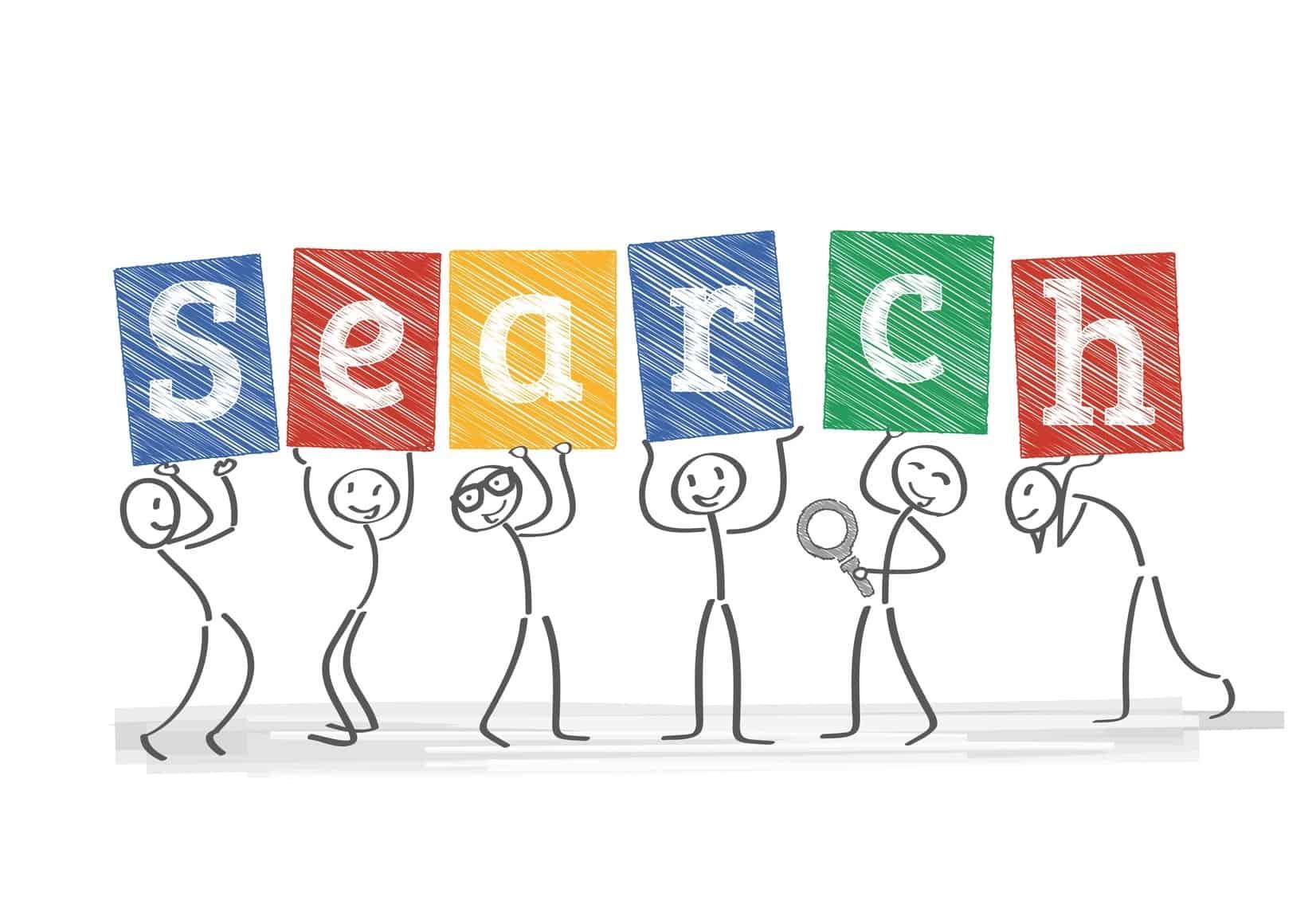 Mnnchen halten Schilder, search